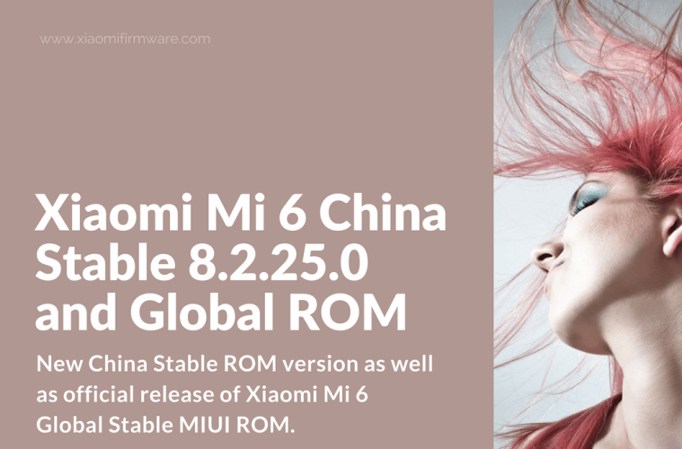 Official Global Stable 8.2.2.0 ROM for Xiaomi Mi6