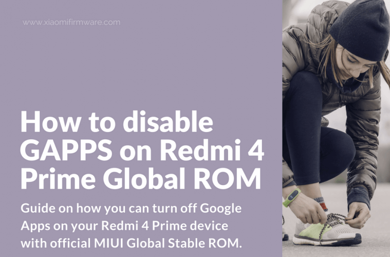 Turn off Google Applications on Redmi 4 Prime