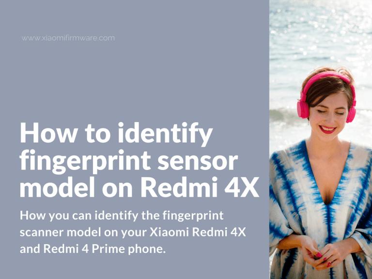 Which fingerprint sensor on Xiaomi Redmi 4X / Prime