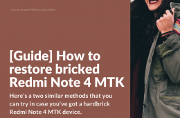 How to unbrick Redmi Note 4 MTK device