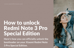 Unlock bootloader on Xiaomi Redmi Note 3 Pro Special Edition