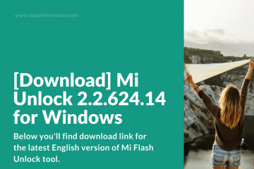 Latest version on MiFlash Unlock Tool