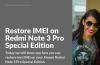 How to restore IMEI on Xiaomi Redmi Note 3 Pro SE