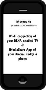 Connect Redmi 4 phone to TV DLNA enabled