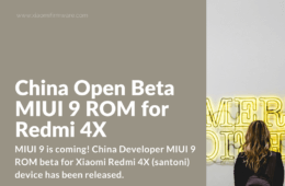 MIUI 9 Developer ROM 7.8.17 for Redmi 4X (santoni)
