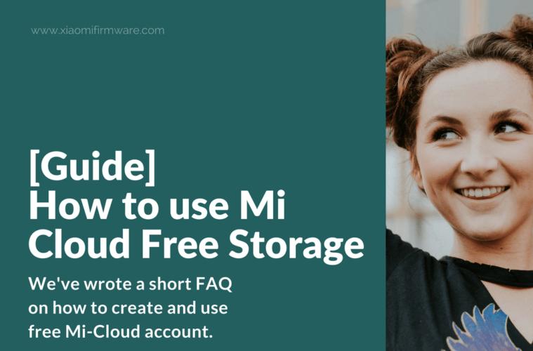How to use Mi Cloud Free Storage