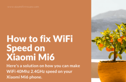 Xiaomi Mi 6 Set up Wi-fi 40Mhz for 2.4GHz