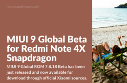 Download MIUI 9 Global Beta 7.8.18 for Redmi Note 4X Snapdragon