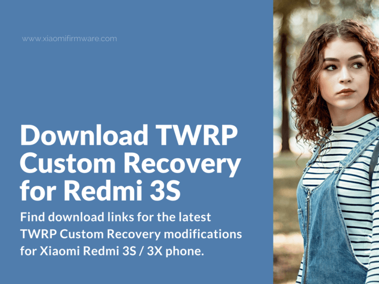 TWRP For Redmi 3S