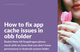 Solution for not working obb folder on Redmi Note 4X