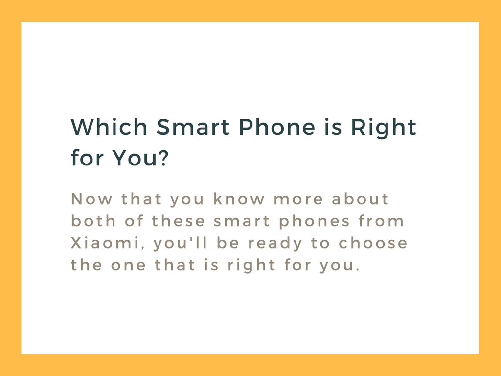 Choose your Xiaomi Smartphone