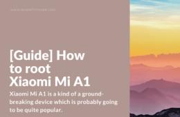 Rooting Xiaomi Mi A1 (tissot)