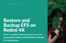 Restore and Backup EFS on Redmi 4X