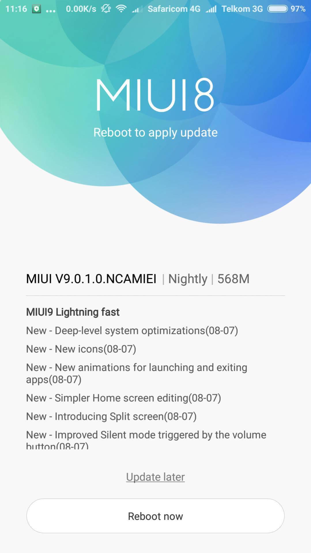 Install MIUI 9 on Mi6