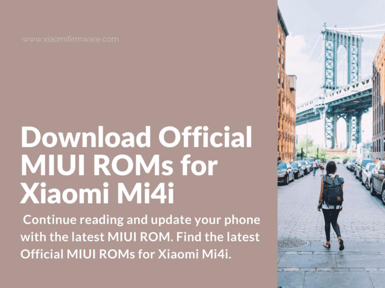 Install latest MIUI ROM on Mi4i (ferrari)