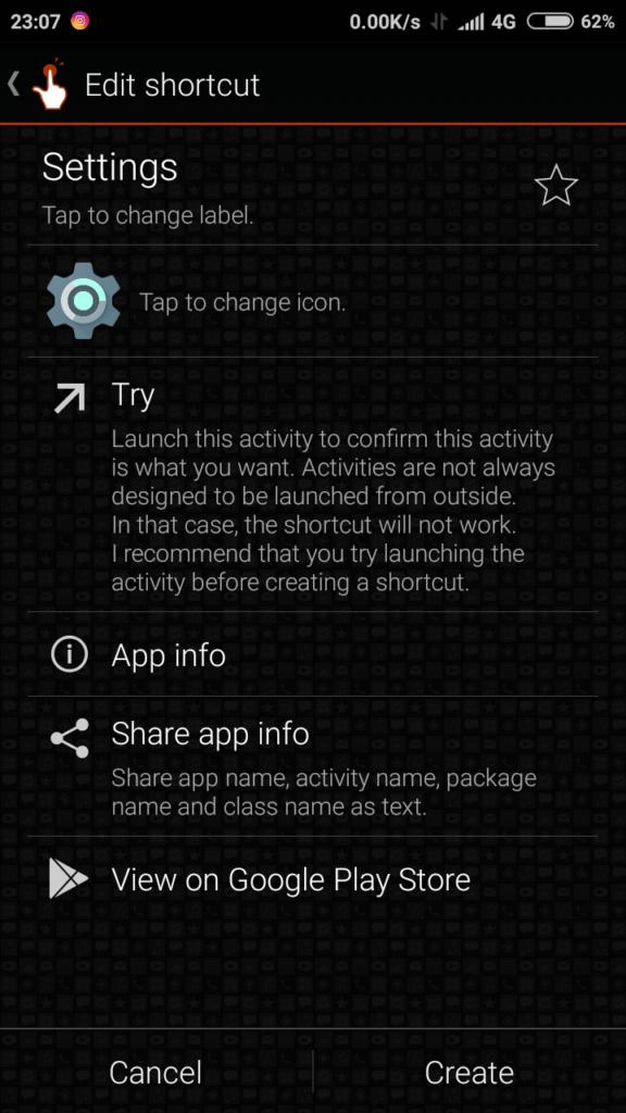 Quick Shortcut Maker App