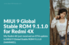 Redmi 4X (santoni) MIUI 9 Global Stable ROM Overview