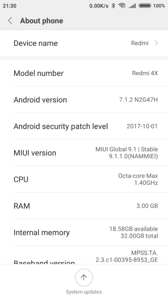 Redmi 4X MIUI 9 Global ROM
