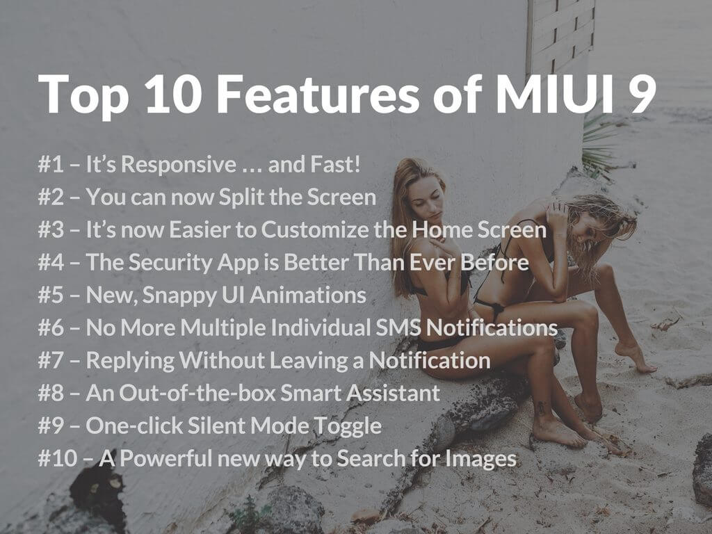 MIUI 9 ROM Release Features