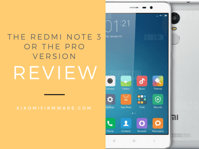 Xiaomi Redmi Note 3 or the Pro Version