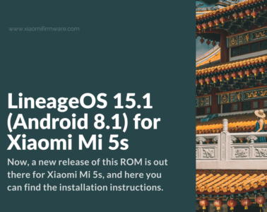 Download LineageOS 15.1 for Mi5S (Capricorn)