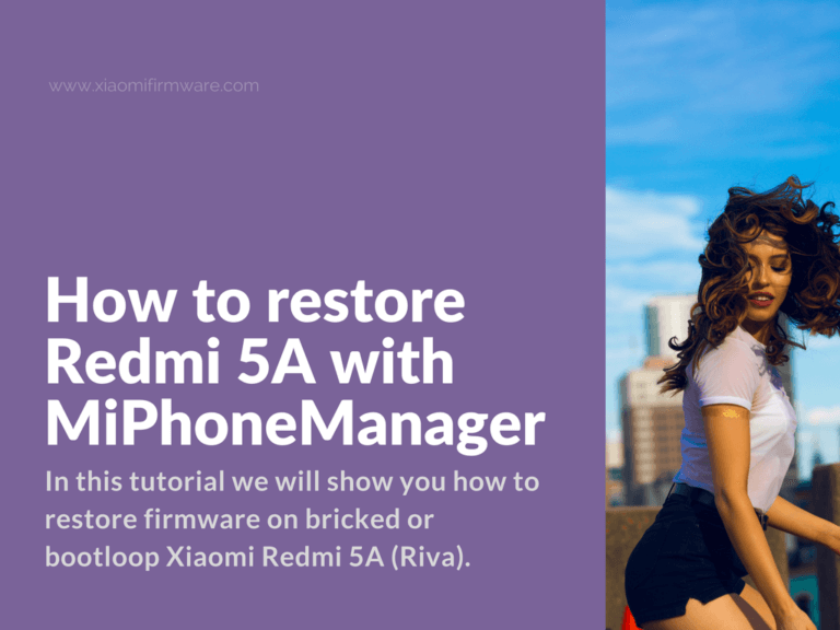 Unbrick Redmi 5A with locked bootloader and stock recovery