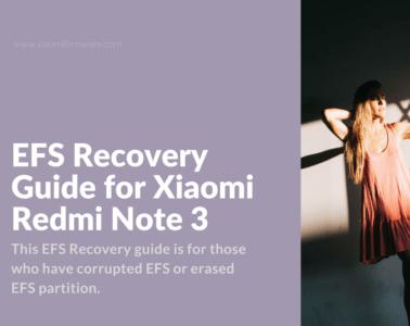 Restore EFS on Redmi Note 3