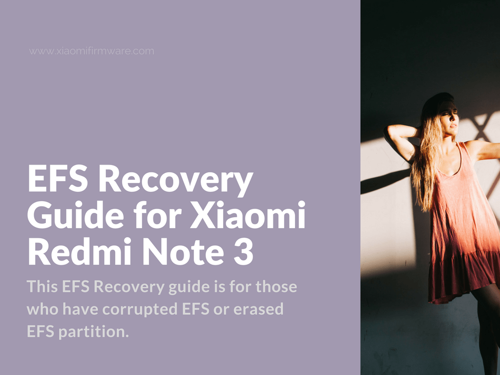 Restore EFS on Redmi Note 3