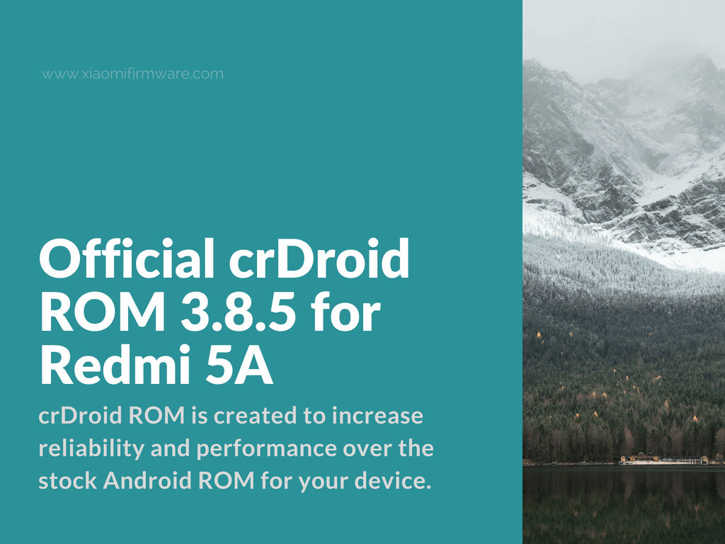 Download Official crDroid ROM for Xiaomi Redmi 5A (Riva)