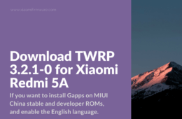 New Official TWRP for Redmi 5A
