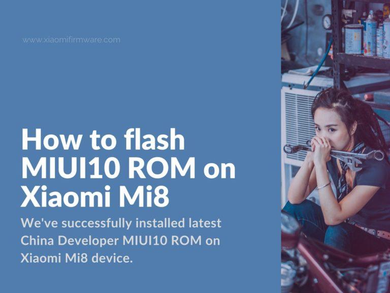 Installing China MIUI 10 ROM on Mi 8 (dipper)