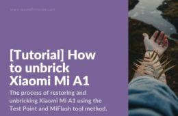 Restore hardbricked Mi A1