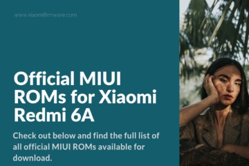 Latest MIUI Firmware for Redmi 6A (CACTUS)