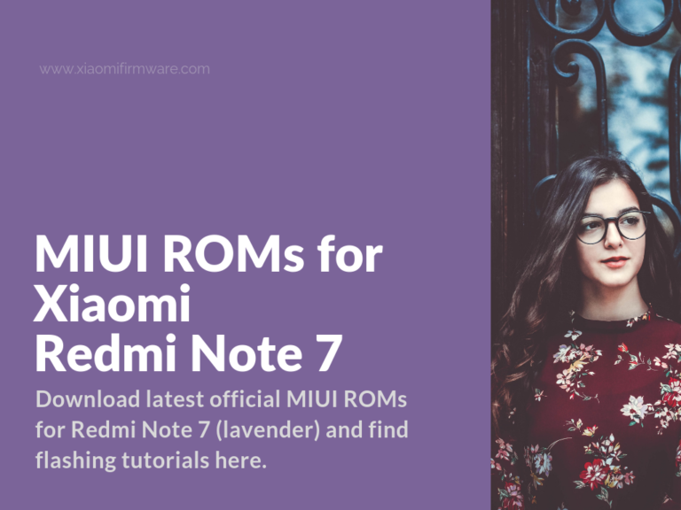 Download Official Firmware for Redmi Note 7