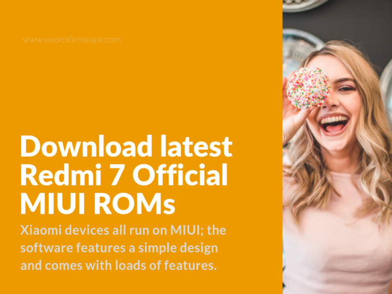 download official redmi 7 firmware