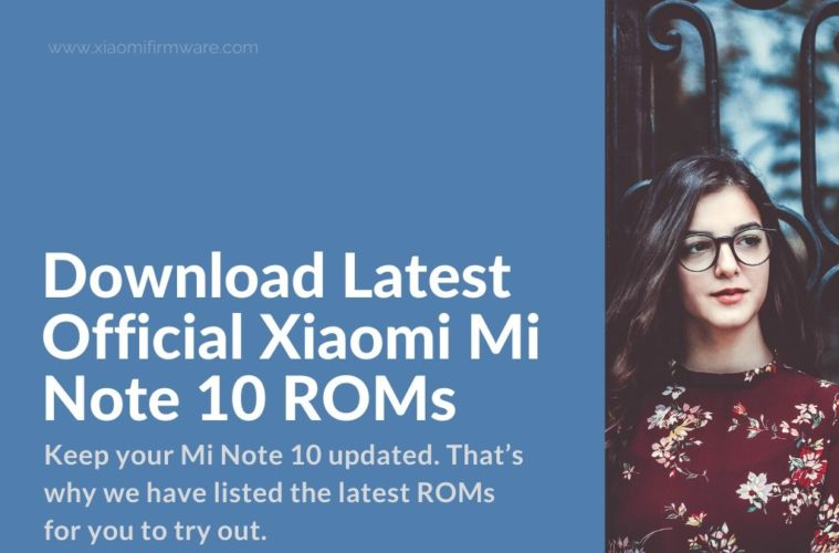 Xiaomi Mi Note 10/CC9 Pro Firmware