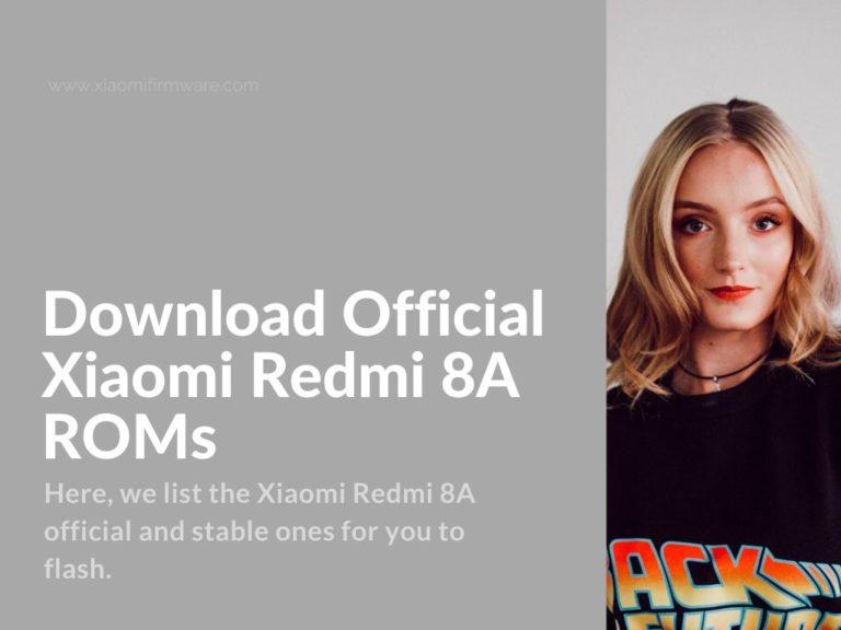 redmi 8a official firmware