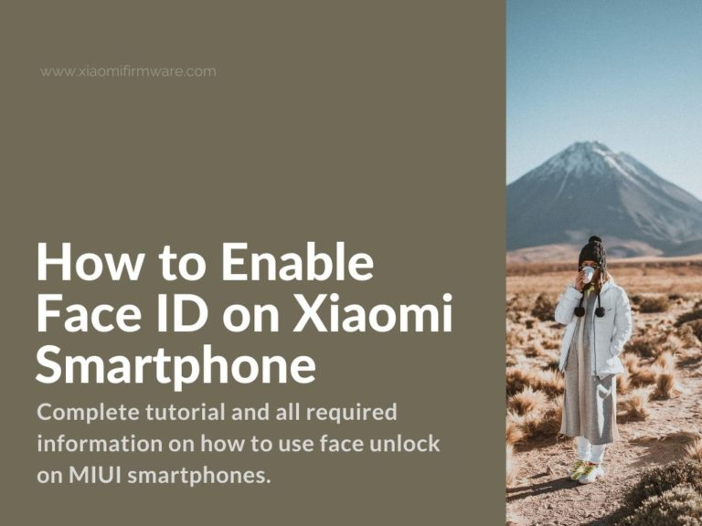 enable face id on xiaomi phone