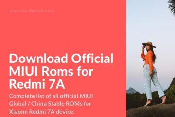 Redmi 7A latest MIUI firmware