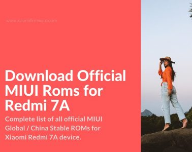 Redmi 7A latest MIUI firmware