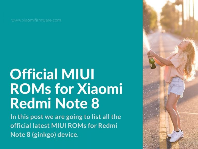 Xiaomi Redmi Note 8 Official Firmware