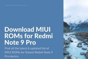 Latest Redmi Note 9 Pro Firmware