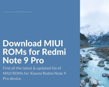 Latest Redmi Note 9 Pro Firmware