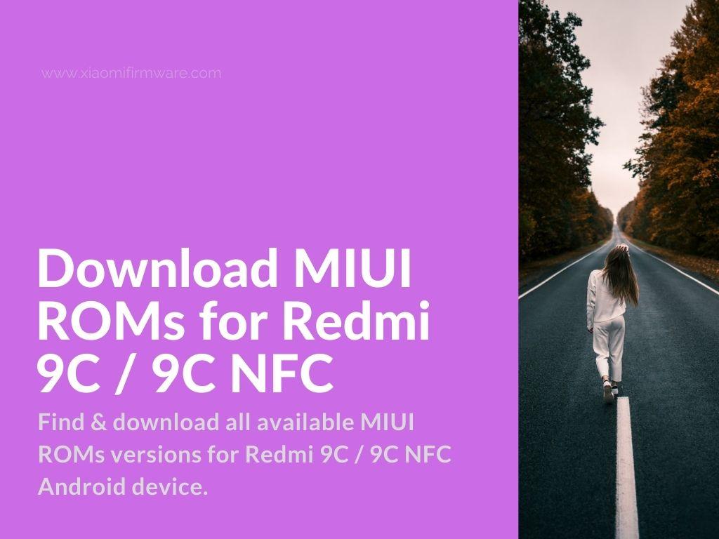 Redmi 9C Official MIUI ROMs