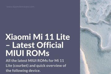 Mi 11 Lite MIUI Official Firmware