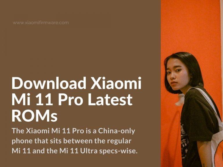 mi 11 pro - ultra official miui firmware