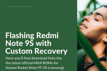 flashing Redmi Note 9S Custom Recovery