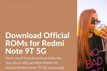Download Firmware for Redmi Note 9T 5G